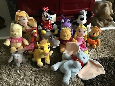 Fab Bundle Of 13 DISNEY Character Soft Toys- Great Lot  • 3.20£