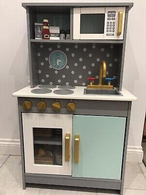 Wooden Play Kitchen With Accessories  • 10.50£