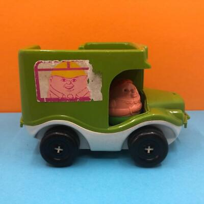 Vintage Airfix Weebles Toy Figures Green Double Decker Bus Vehicle Set 1970s • 14.99£