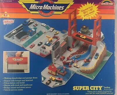 Micro Machines SUPER CITY TOOL BOX  Vintage 1988 By Galoob No 6420 • 16.60£