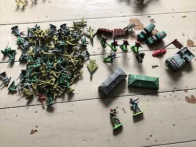 Vintage Toy Soldiers Job Lot (metal & Plastic) • 2.40£