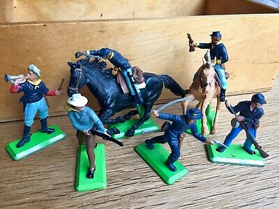 Vintage Britains Deetail US Federal Army Wild West ACW Toy Soilders • 4.99£