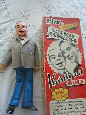 Vintage Archie Andrews Ventriloquist Dummy Doll Grey Top AA And Blue Trousers • 25£