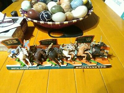 Toy Soldiers Britain's Detail Old Shop Display Confederate Cavalry Full Set  • 23£