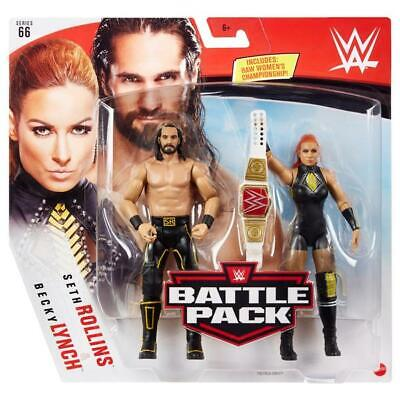 Seth Rollins & Becky Lynch WWE Battle Pack Series 66 Figures - Brand New • 19.54£