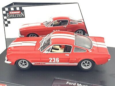 Carrera Evolution 25713 Ford Mustang GT350  Historic Racer  Red Boxed • 35£