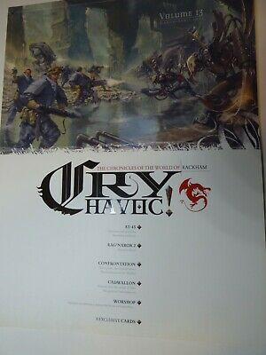 Cry Havoc Magazine Issue 13 With Cards, Rackham OOP And Very Rare • 9.99£