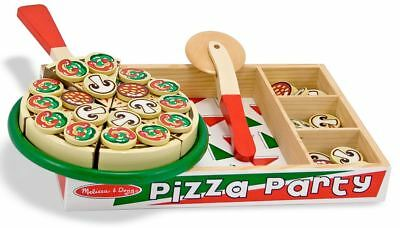 Melissa & Doug WOODEN PIZZA SET PLAY FOOD Role Play/Toy/Gift Toddler/Child BN • 18.98£