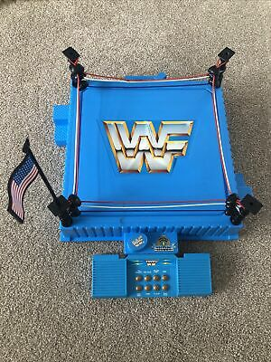 WWF Hasbro Wrestling Ring With Flag & Sound Effects • 70£