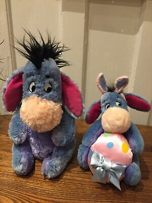 Winnie The Pooh Disney Eeyore Bundle - Eeyore W Easter Egg Beanie + Med Plush • 10£