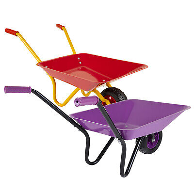 Childrens Kids Metal Toy Wheelbarrow Red Purple Play Garden Gardening  • 19.99£