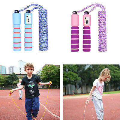 Fitness Skipping Jump Rope Adjustable Digital Counting For Kids Speed Exercise • 5.99£