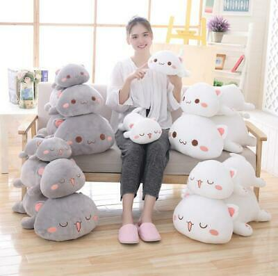 Kawaii Lying Cat Plush Toy Stuffed Cute Cat Doll Lovely Animal Kids Holiday Gift • 19.99£