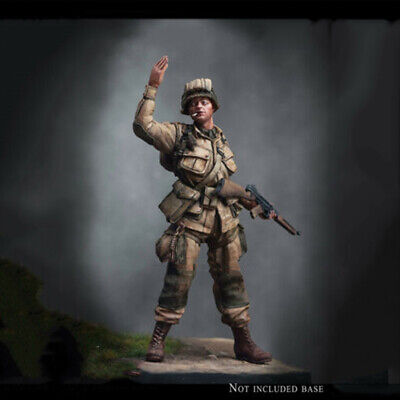 1/24 Scale WWII Soldier Unpainted Model Kits Garage Kit Figure No Stand Statue • 22.99£