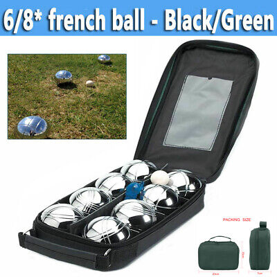 6/8 French Ball Stainless Steel Boules Set Petanque Outdoor Carry Case Garden Uk • 17.98£