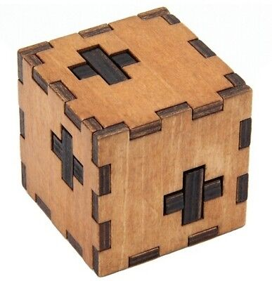Wooden Box Puzzle Brain Teaser Puzzles Game IQ Educational Wood Puzzle New • 5.49£