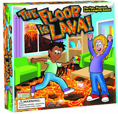 Kids And Adults Lava Jumping The Floor Is Lava Easy To Play Board Game UK Xmas • 14.99£