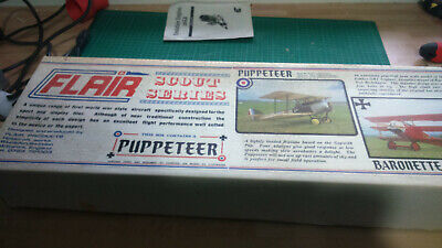 Vintage Flair Puppeteer Rc Radio Controlled Balsa Wood Model Aircraft Kit  • 77.08£