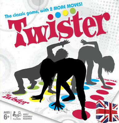 Twister The Classic Family Kid Party Body/Game With 2 More Moves Toy Spiral UK • 7.99£