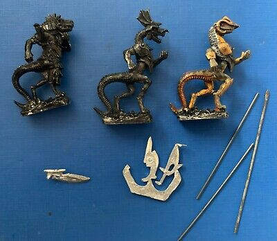 RAFM Miniatures Reptiliad Tanthangists, Pole-armed X 3 Used • 2.99£