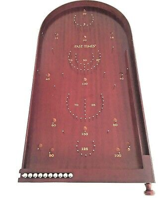 Large Wooden Bagatelle Board/game + Metal Balls By Past Times Perfect Condition  • 82£