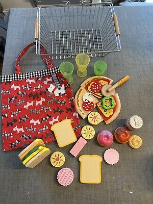 Metal Shopping Basket Hape Play Food, Ikea Cups, Pizza, Bag, Biscuits • 7.50£