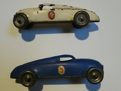 Two Lehmann Marke Gnom Tin Plate Toy Cars From The 1930's • 51£