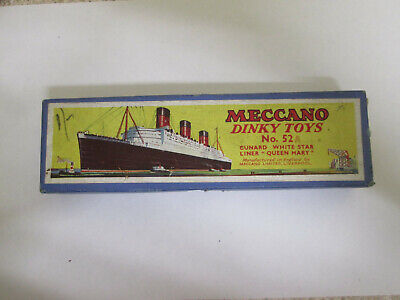 Meccano Dinky Toys No.52A Cunard White Star Liner  Queen Mary .Boxed,Original. • 39.99£