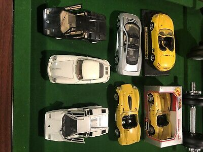 Collection Of 7 1:18 Scale Model Cars - Mixed Condition • 30£