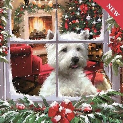 Otter House Waiting For Santa - Westie - 1000 Pieces Jigsaw Puzzle • 13.49£