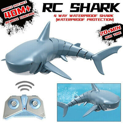 2.4G  RC Remote Control Electronic Shark Simulation Shark Fish Boat Baby Kid Toy • 19.95£