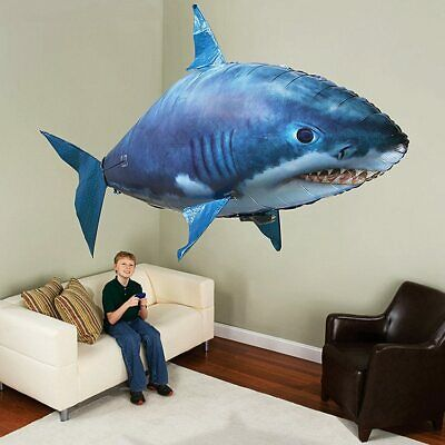 Remote Control Flying Shark Fish RC Radio Air Swimmer Inflatable Child Toys  • 13.95£