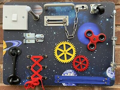 Children Educational Sensory Activity Busy Board. (Space Themed) • 40£