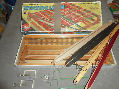 Spears Weaving Loom Size 4 With Rare 1957 Pattern Book And Some Paper Patterns • 3.10£
