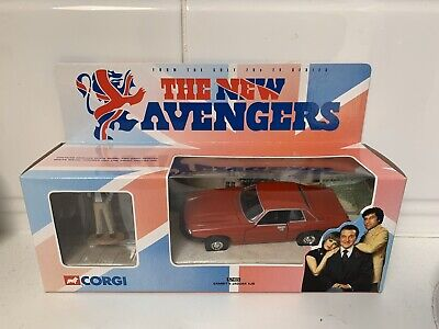 CORGI THE NEW AVENGERS GAMBIT'S JAGUAR XJS 1/36 Scale & FIGURE 57405 • 45£