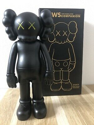 KAWS COMPANION Open 8  PVC Action Figure Toy Black • 50£