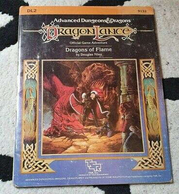 AD&D Advanced Dungeons & Dragons, Dragonlance: Dragons Of Flame DL2 • 15£