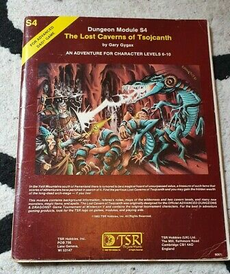 AD&D Advanced Dungeons & Dragons Module: The Lost Caverns Of Tsojcanth S4 • 15£