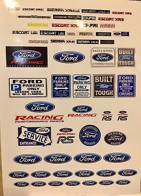 1/18 Diorama Ford Wall Art And Advertising Garage Posters 0004 • 7£