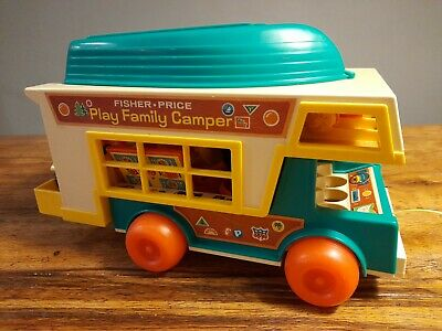 Vintage Fisher Price 1970s Play Family Camper. Plus Lots Of Accessories  • 8£