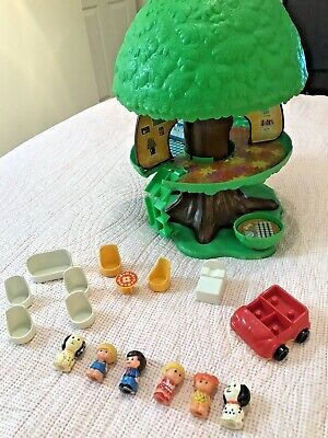 Vintage Palitoy 70s FAMILY TREE HOUSE | Figures | Furniture | Working Lift Swing • 10£