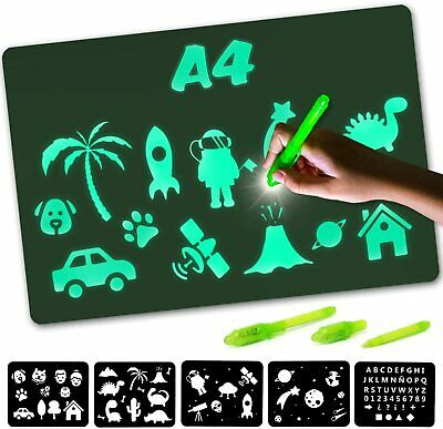 Nene Toys - Magic Drawing Boards With Light For Kids - Fluorescent A4  • 7.89£