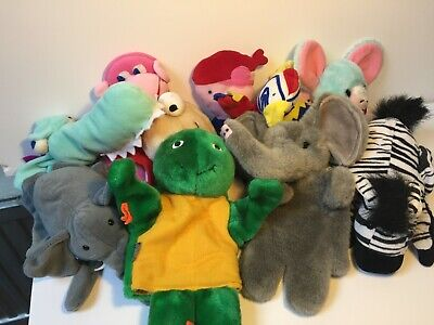 Huge Bundle Of 18 Hand Puppets - Plush, Furry Animals And Weird Creatures • 7.50£
