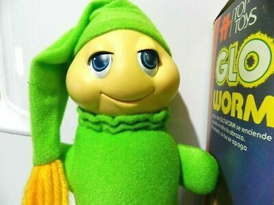 Glo Glow Worm Stuffed Animal Plush Brand Top Toys / 80's In Box Variant • 73.12£