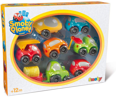 Smoby Vroom Planet 120217 Collection Set Of 7 Small Drivers For Babies From 12 • 34.53£