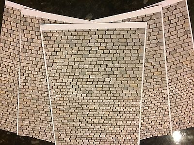 1/18 Diorama Cobble Effect Road ( 5 Sheets ) 0045 • 15£