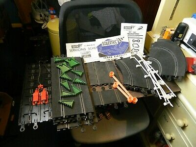 Vintage Scalextric Track & Accessories & Instructions Of 40 Set • 17.50£