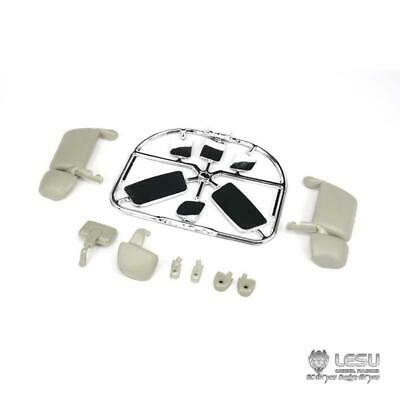UK Stock ABS LESU Rearview Mirror For 1/14 Tamiya Scania R620 470 RC Tractor • 29.99£