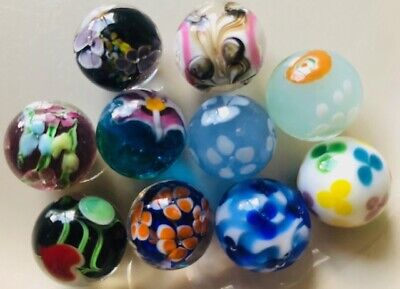 Beautiful HANDMADE Marbles 16mm Traditional Children's Game/ Collectable • 2£