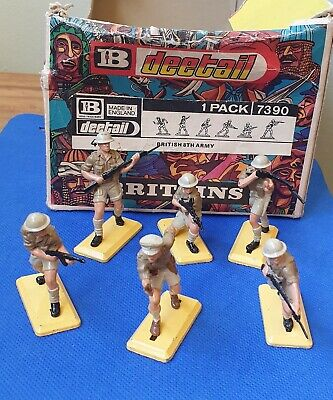 Britains Deetail British 8th Army Infantry From Original Trade Box - Ref 7390 • 29.99£